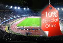Vieni alla partita allo Stadio San Paolo e risparmia il 10%
